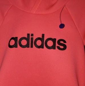 adidas Jackets & Coats - NEON PINK ADIDAS HOODIE